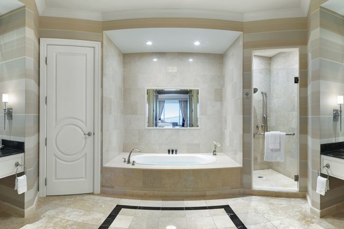 Flat Roman Shades Bathroom